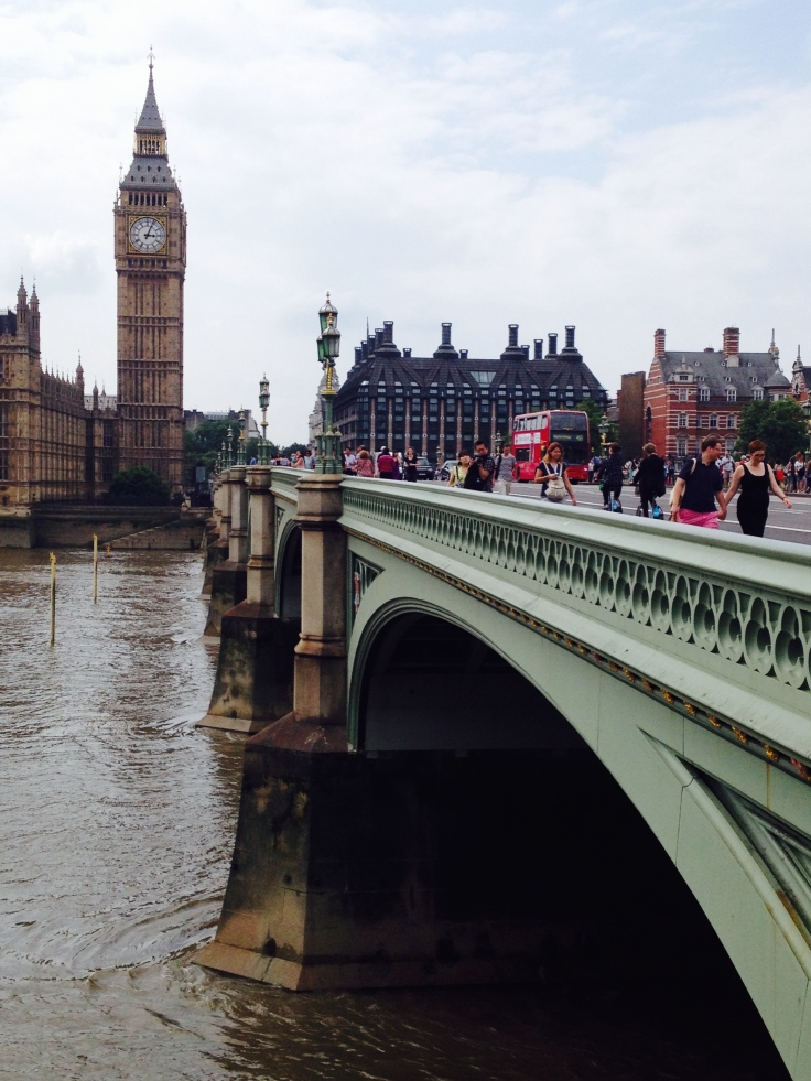 Big Ben across Westminster Bridge