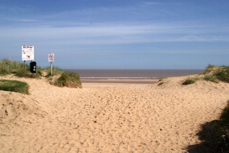 The entrance to the beach at Anderby Creek