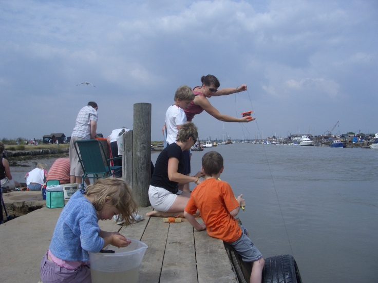 Crabbing at Southwold