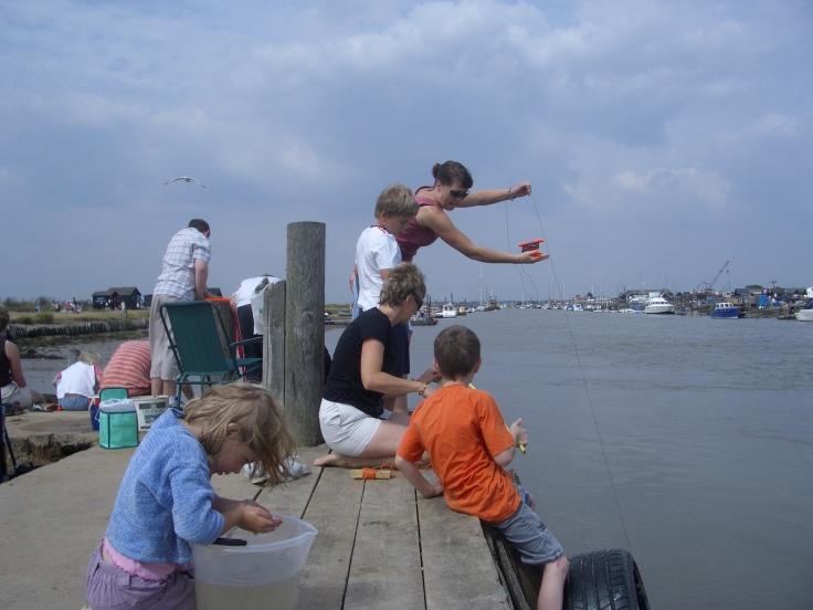 Crabbing at Southwold